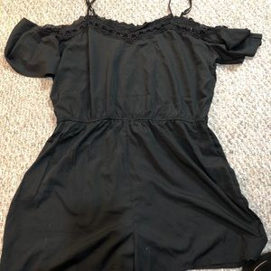 Boohoo plus black romper
